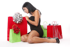 Christmas bags Royalty Free Stock Images