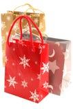 Christmas gift bags Stock Photos