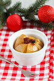 Christmas Baked Apple Stock Images