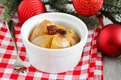 Christmas Baked Apple Royalty Free Stock Photo
