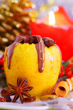 Christmas baked apple.Advent Royalty Free Stock Images