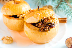 Christmas baked apples Royalty Free Stock Photos
