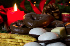 Christmas bakery. Cookies and candy at Christmas time Stock Photos