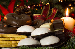 Christmas bakery. Cookies and candy at Christmas time Royalty Free Stock Images