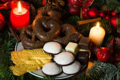 Christmas bakery. Cookies and candy at Christmas time Stock Image