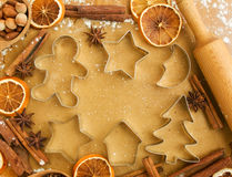 Christmas baking Stock Image
