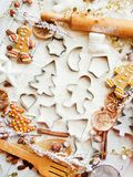 Christmas baking background Royalty Free Stock Images