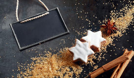 Christmas baking background Stock Images