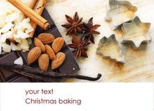 Christmas baking background Royalty Free Stock Photography