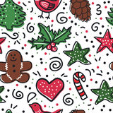 Christmas baking background. Christmas party baking seamless background Stock Photography
