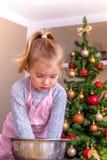 Christmas baking child Royalty Free Stock Photos