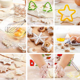 Christmas baking collage Stock Image