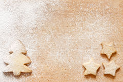 Christmas baking cookies abstract food background Stock Images