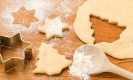 Christmas baking - delicious homemade biscuits royalty free stock image