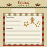 Christmas Baking Festive Recipe Card Stock Image
