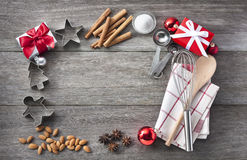 Christmas Baking Frame Background Royalty Free Stock Image