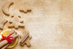 Christmas baking gingerbread cookies food background Stock Photos