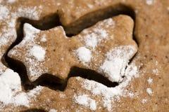 Christmas baking - gingerbreads Stock Photos