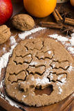 Christmas baking - gingerbreads Royalty Free Stock Photo