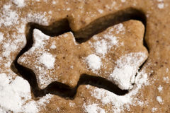 Christmas baking - gingerbreads Stock Image
