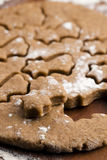 Christmas baking - gingerbreads Royalty Free Stock Images