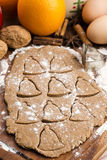 Christmas baking - gingerbreads Stock Photography