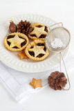 Christmas baking with mince pies Royalty Free Stock Photo