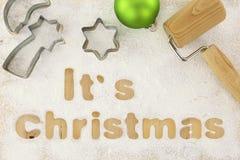 Christmas baking preparation Stock Photo