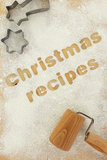 Christmas baking preparation background Stock Image