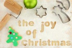Christmas baking preparation background Royalty Free Stock Image