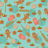 Christmas baking seamless wallpaper Stock Photography
