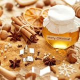 Christmas baking spices Stock Photography