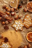 Christmas baking spices Royalty Free Stock Photo