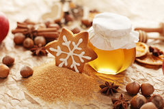 Christmas baking spices Stock Image