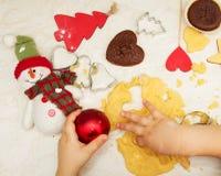 Christmas baking Stock Image