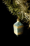 Christmas ball 01. Old Christmas decoration on a black background Stock Images