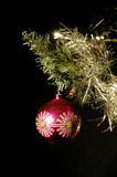 Christmas ball 02. Old Christmas decoration on a black background Royalty Free Stock Image