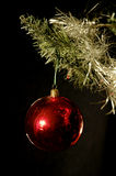 Christmas ball 03. Old Christmas decoration on a black background Royalty Free Stock Photography