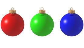 Christmas ball. 3D computer illustration of christmas ball decoration Stock Photography