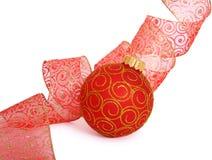 Christmas ball. Hanging Christmas bauble isolated on white Stock Photo