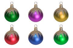 Christmas ball. Christmas tree decoration. White background stock photography