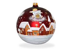 Christmas ball. Beautiful new year's ball Christmas tree ornaments dL and premises Stock Image