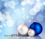 Christmas Ball. Beautiful Christmas Decoration Border.With copy-space stock photos