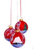 Christmas ball. Hanging Christmas bauble isolated on white Stock Image