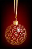 Christmas ball. Decorated with an ornament Royalty Free Stock Photo