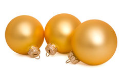 Christmas ball. Hanging Christmas bauble isolated on white Stock Images