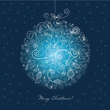 Christmas ball. Stylized christmas ball , christmas card Stock Image
