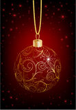 Christmas ball. Decorated with an ornament Royalty Free Stock Images