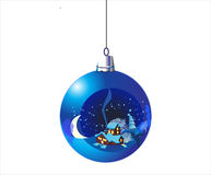 Christmas ball. Hanging christmas ball with picture inside Stock Photography