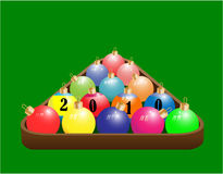 Christmas ball. In the form of a pool Royalty Free Stock Images